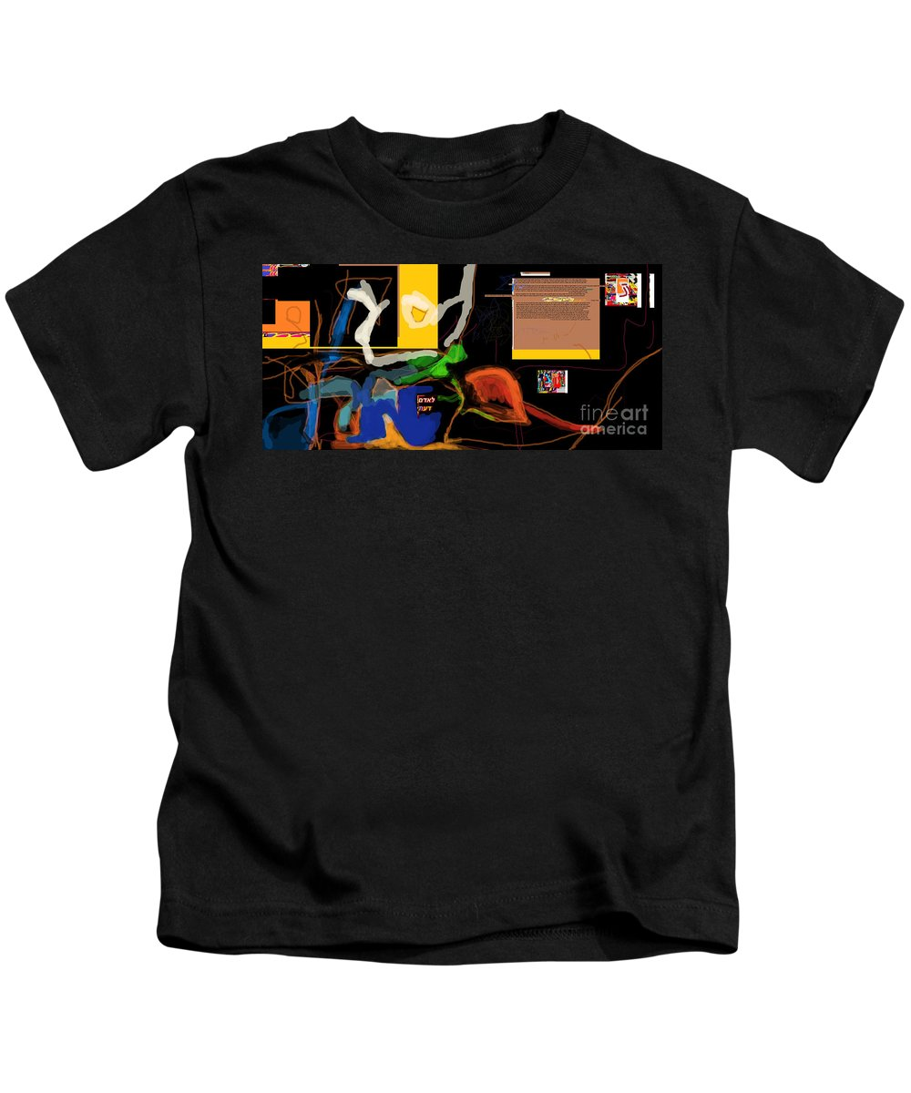 Kids T-Shirt featuring the digital art Fixing Space 1e by David Baruch Wolk