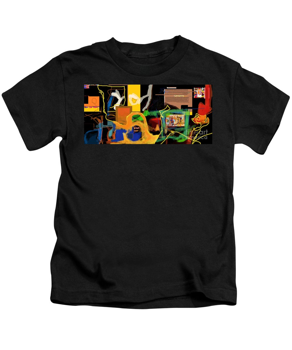 Kids T-Shirt featuring the digital art Fixing Space 1l by David Baruch Wolk