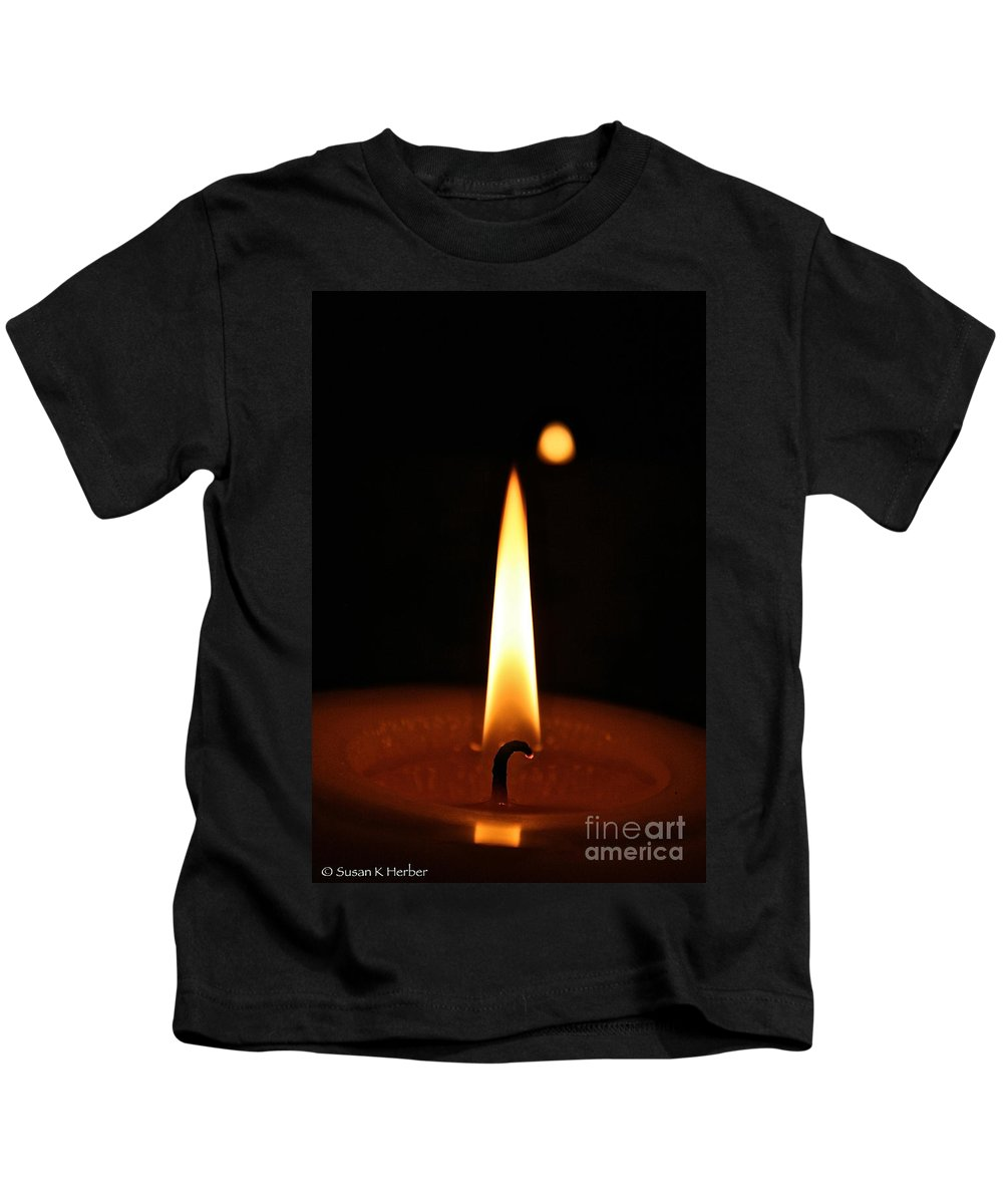 Flame Kids T-Shirt featuring the photograph Flashpoint by Susan Herber