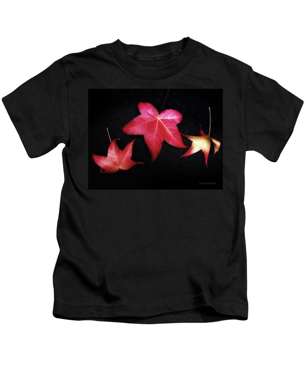 Fall Kids T-Shirt featuring the photograph Flirting With You by Donna Blackhall