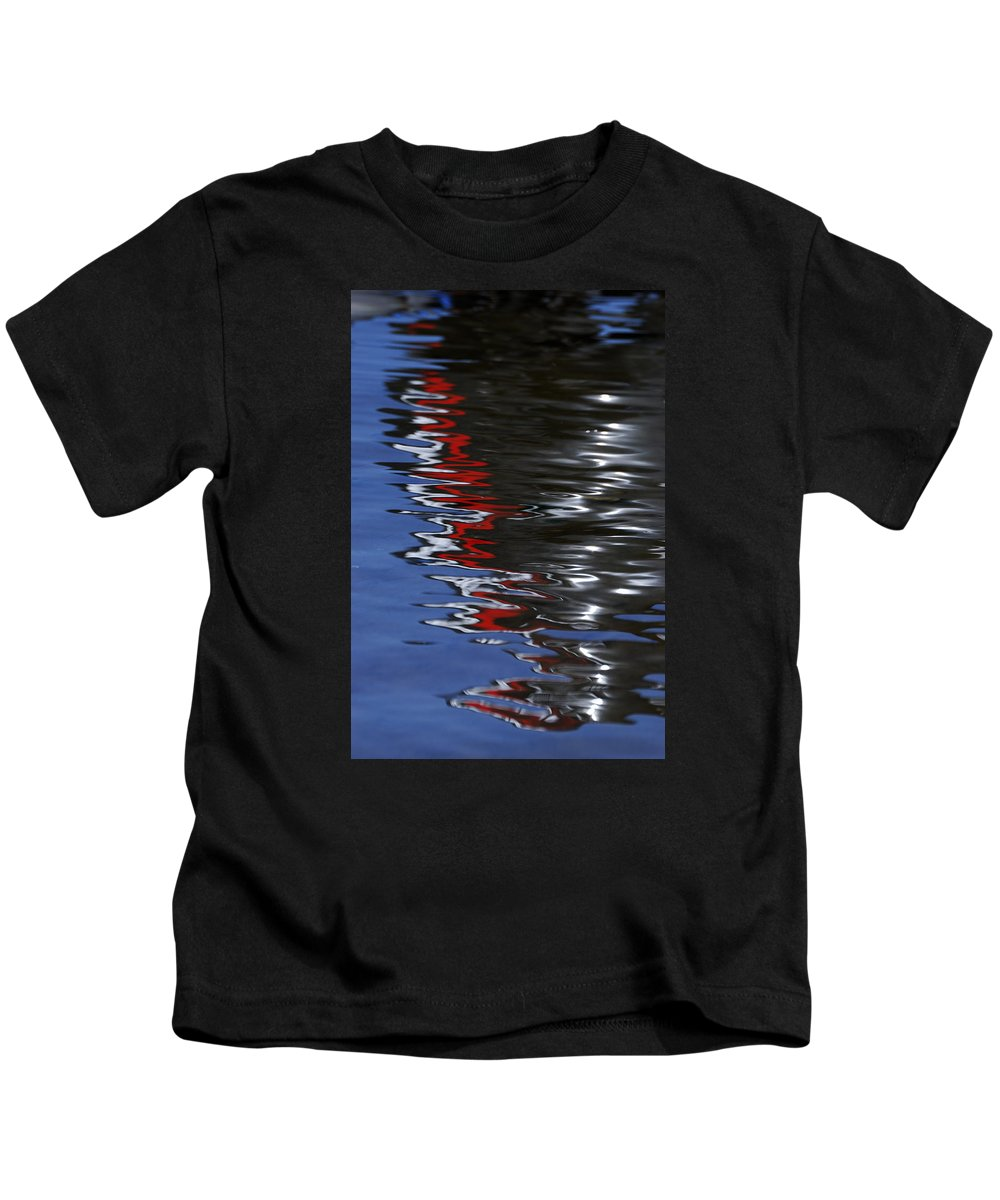 Wendy Wilton Kids T-Shirt featuring the photograph Floating On Blue 14 by Wendy Wilton