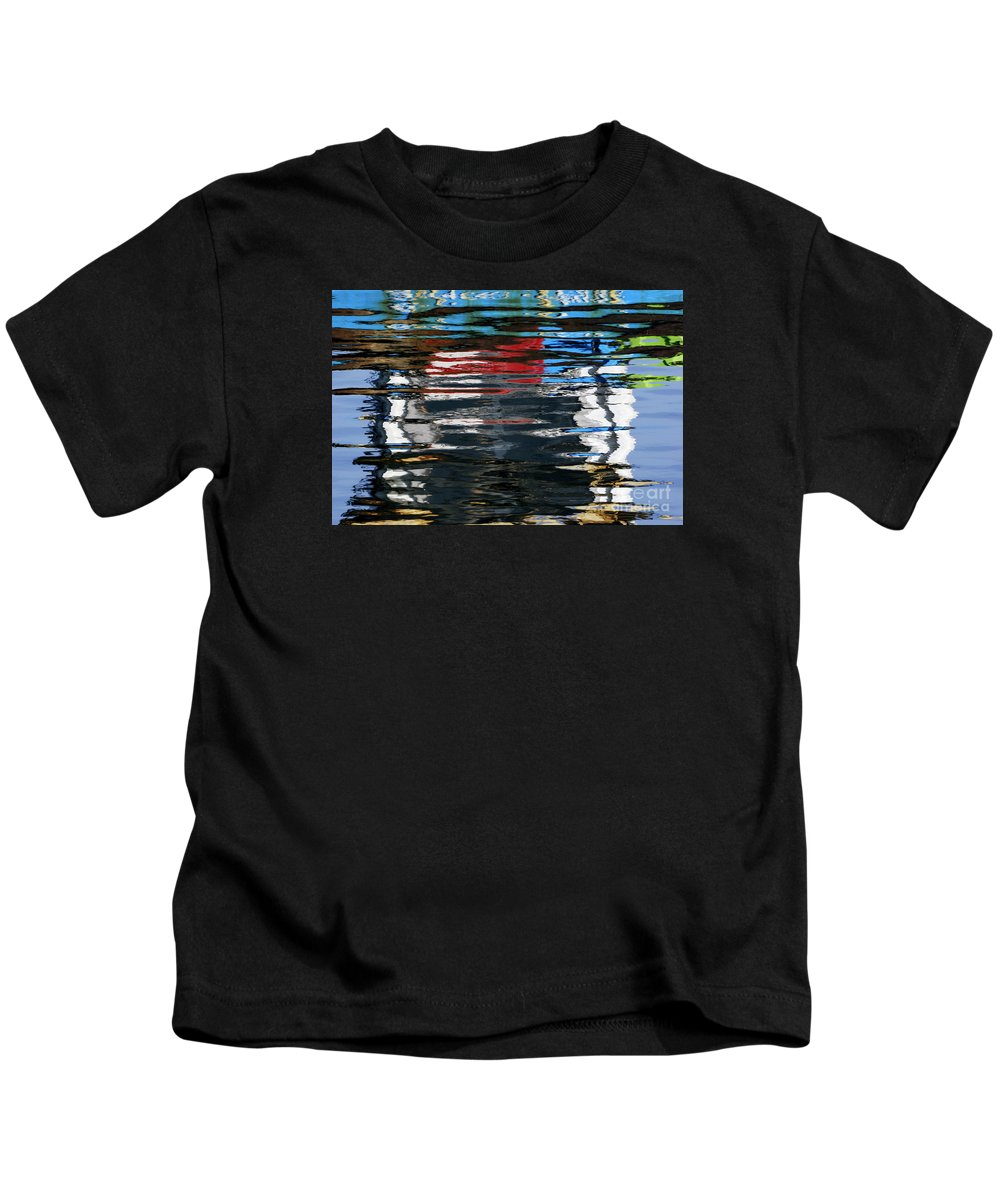Floating Kids T-Shirt featuring the photograph Floating On Blue 19 by Wendy Wilton