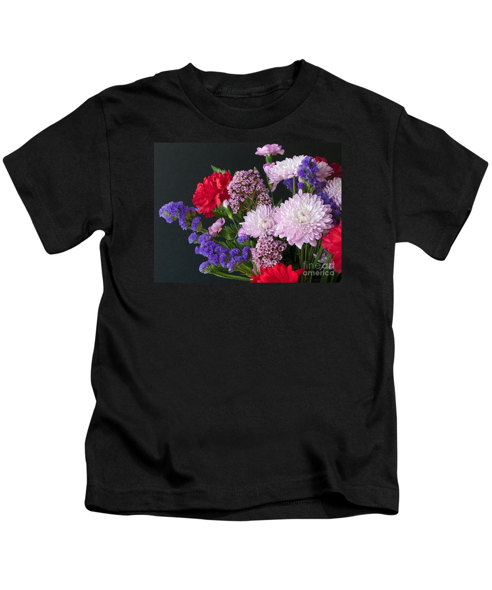 Bouquet Kids T-Shirt featuring the photograph Floral Mix by Ann Horn