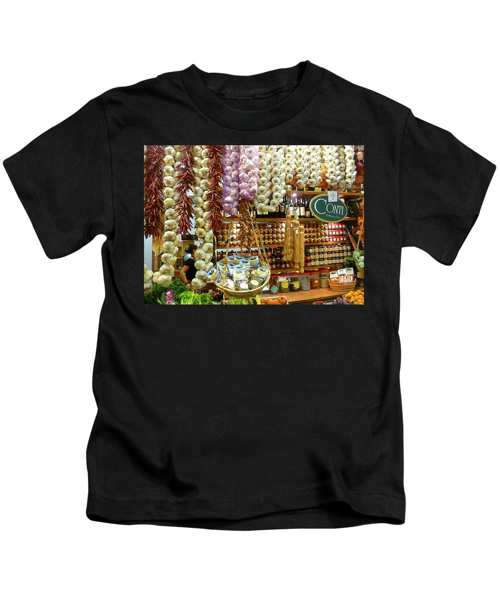 Market Kids T-Shirt featuring the photograph Florence Market by Irina Sztukowski