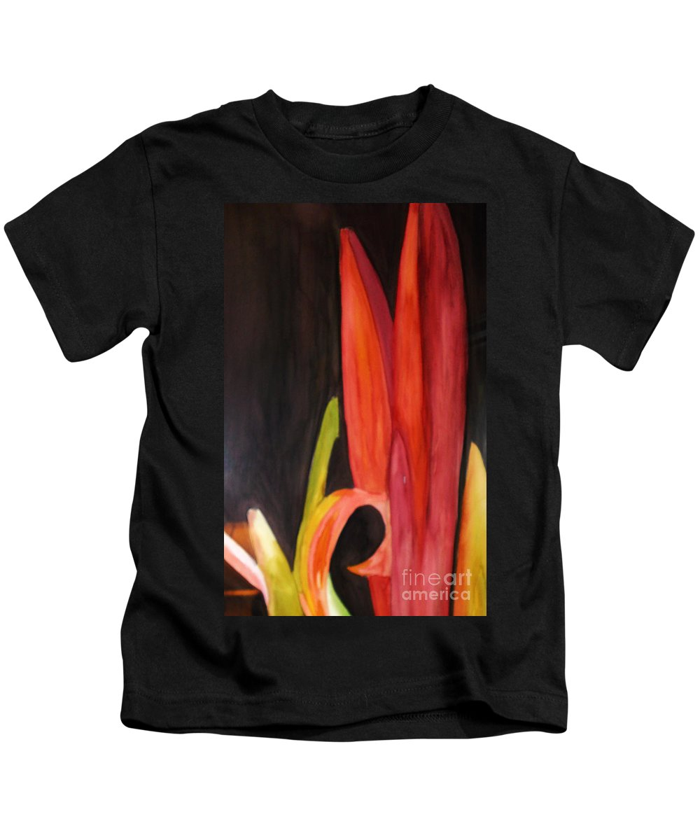 Flower Image Kids T-Shirt featuring the painting Flourish by Yael VanGruber