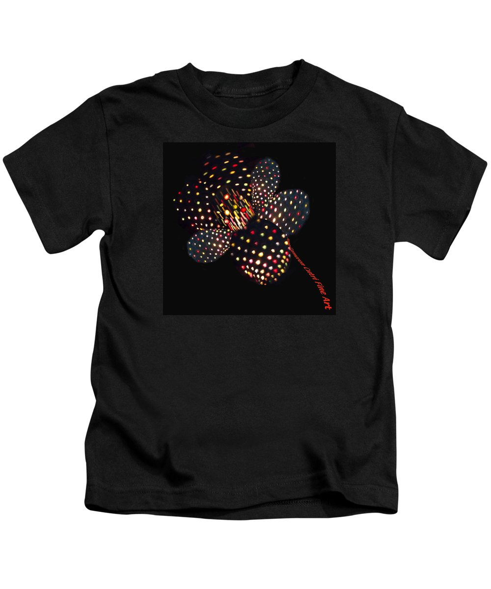 Flower Kids T-Shirt featuring the photograph Flower Of Lights by Anne Cameron Cutri