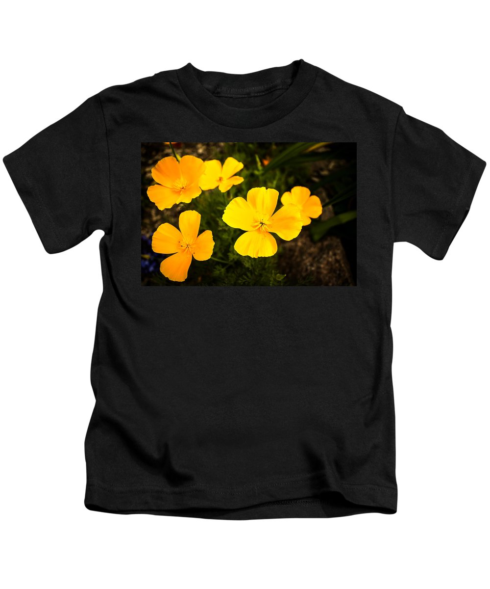 Flowers Kids T-Shirt featuring the photograph Flowers In The Garden by John Lee
