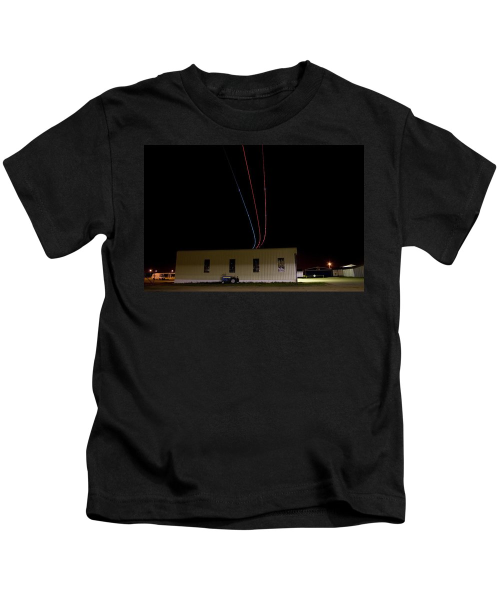 Aircraft Kids T-Shirt featuring the photograph Fly Over by Paul Job
