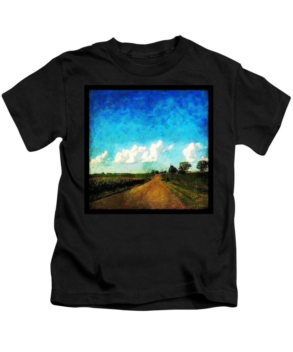 Clouds Kids T-Shirt featuring the painting Follow The Leader by Sandy MacGowan