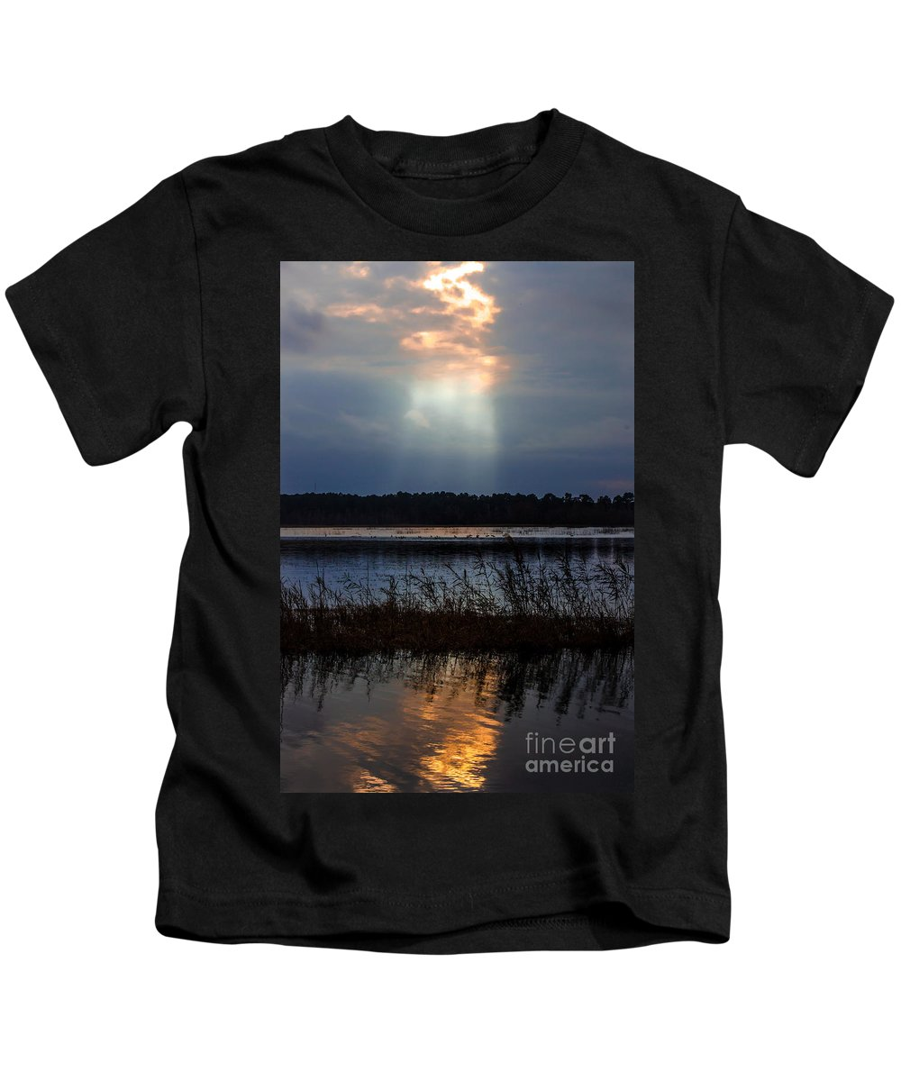Follow Kids T-Shirt featuring the photograph Follow The Light by Scott Hervieux