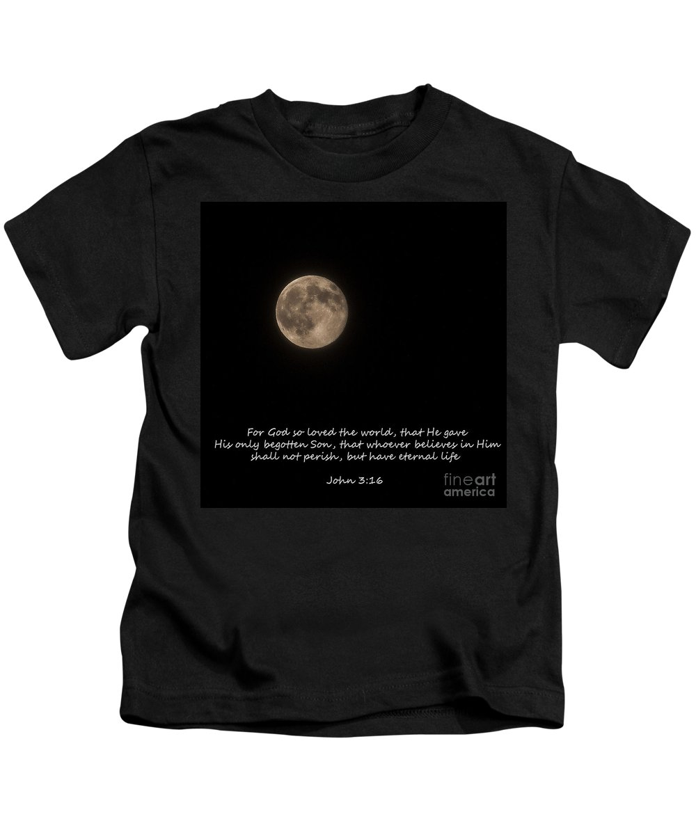 Space Kids T-Shirt featuring the photograph For God So Loved The World by Janice Pariza