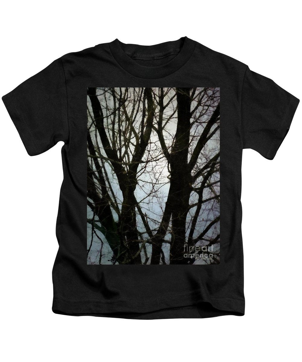 Christmas Kids T-Shirt featuring the painting For It Being On Christmas Morning by RC DeWinter