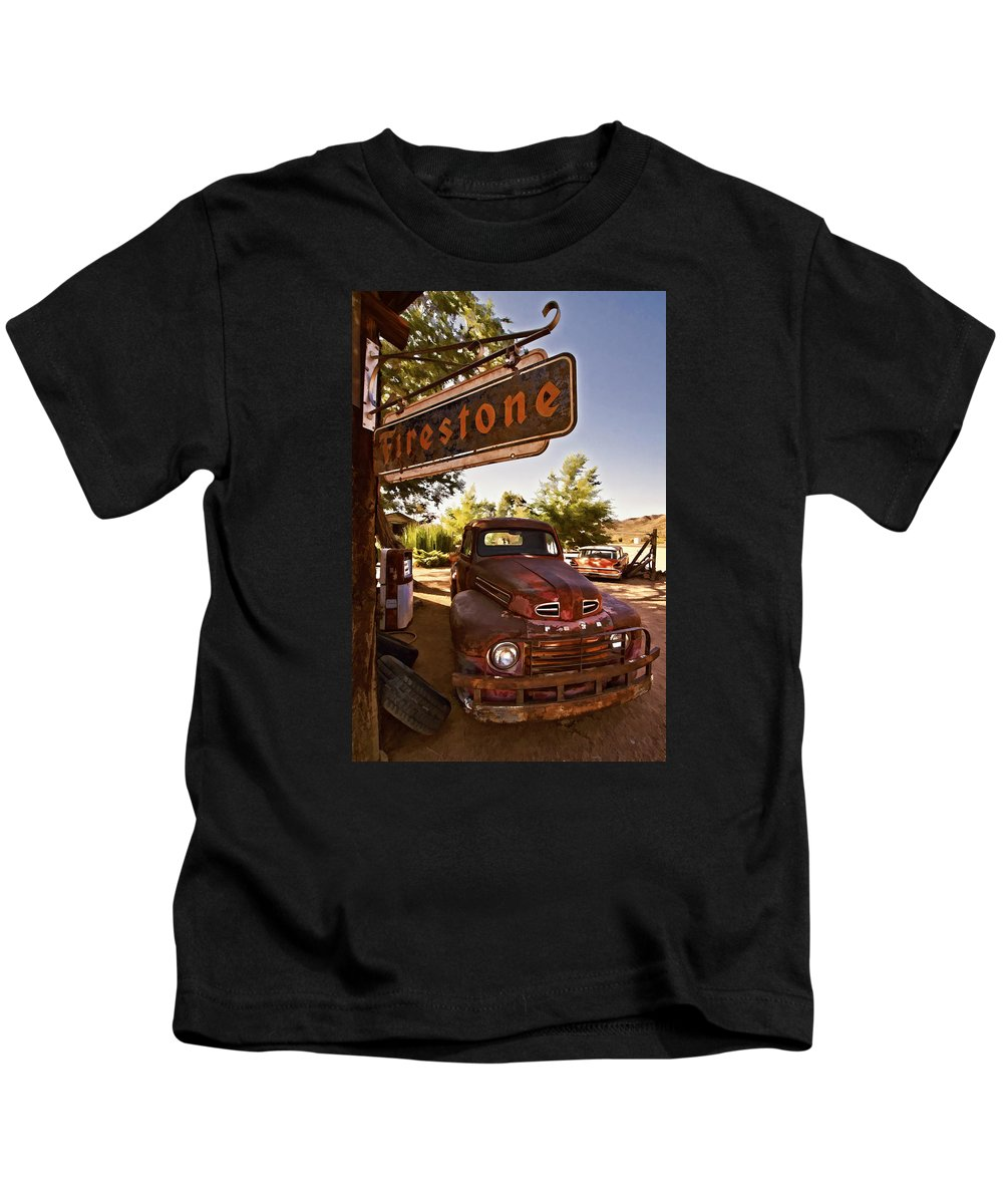 Ford Fever Kids T-Shirt featuring the photograph Ford Fever by Priscilla Burgers