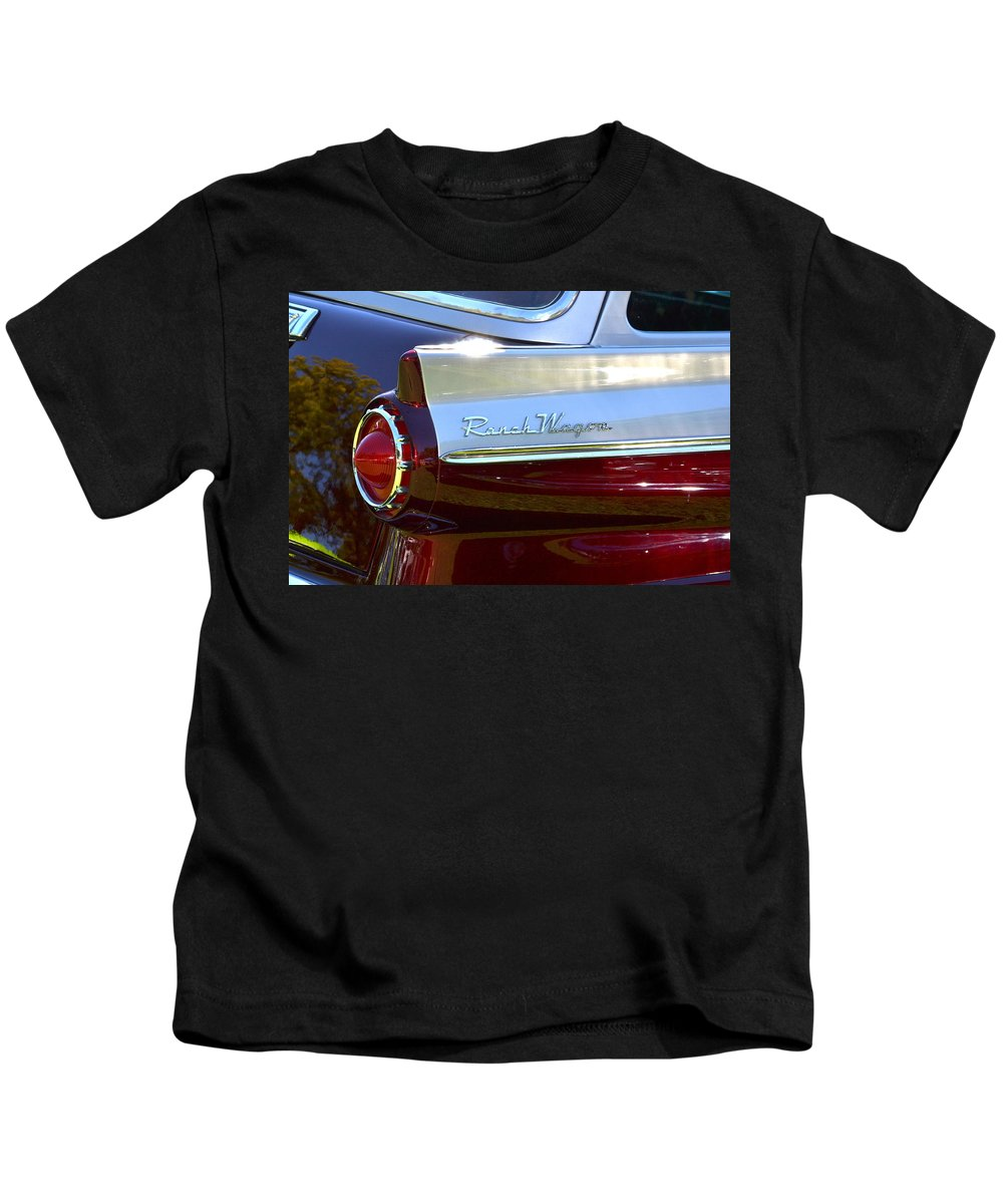 Ford Kids T-Shirt featuring the photograph Ford Ranch Wagon by Dean Ferreira