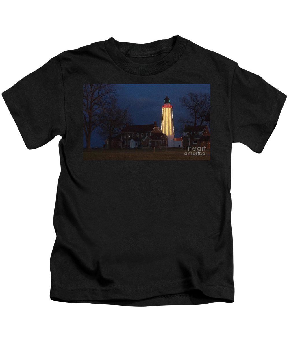 Lighthouse Kids T-Shirt featuring the photograph Fort Gratiot Lighthouse And Buildings by Ronald Grogan