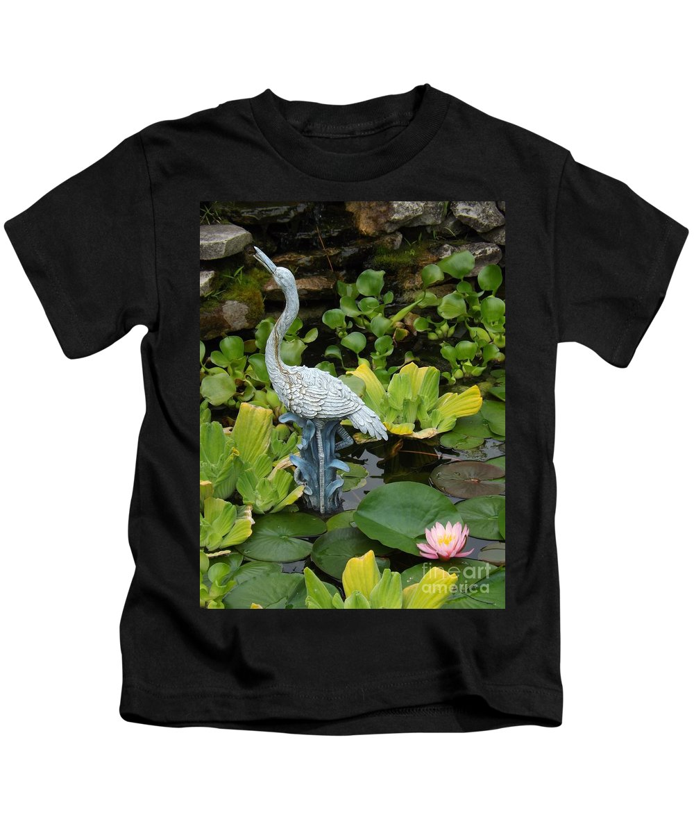 Flower Kids T-Shirt featuring the photograph Fountain Among Lilies by Sara Raber