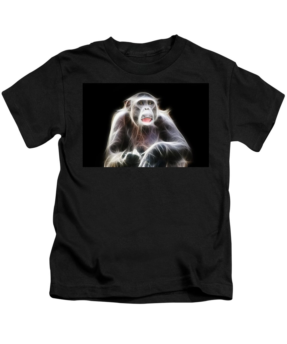 Fractal Kids T-Shirt featuring the photograph Fractal Chimp by Pati Photography