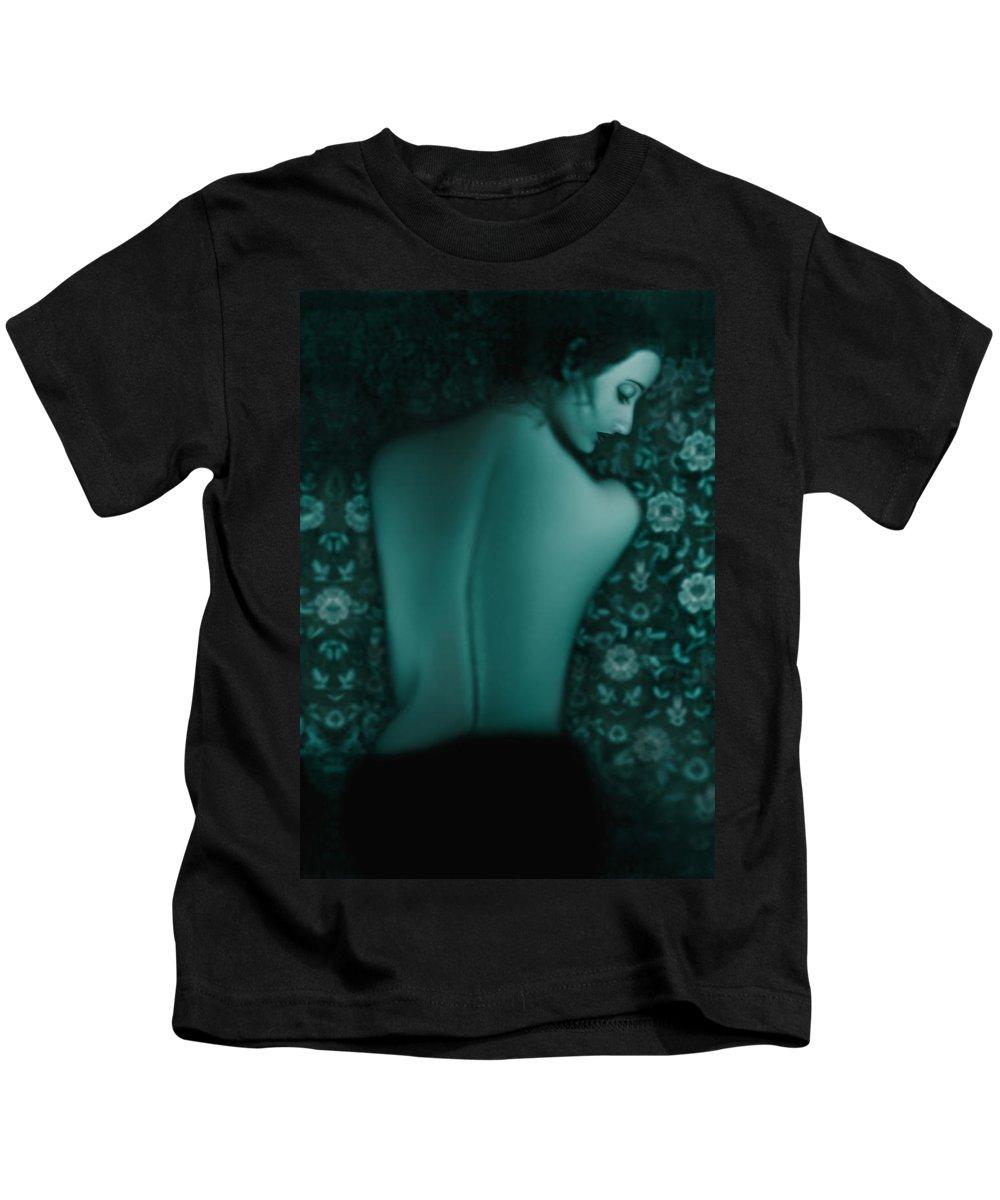 Classic Kids T-Shirt featuring the photograph Fragility - Self Portrait by Jaeda DeWalt