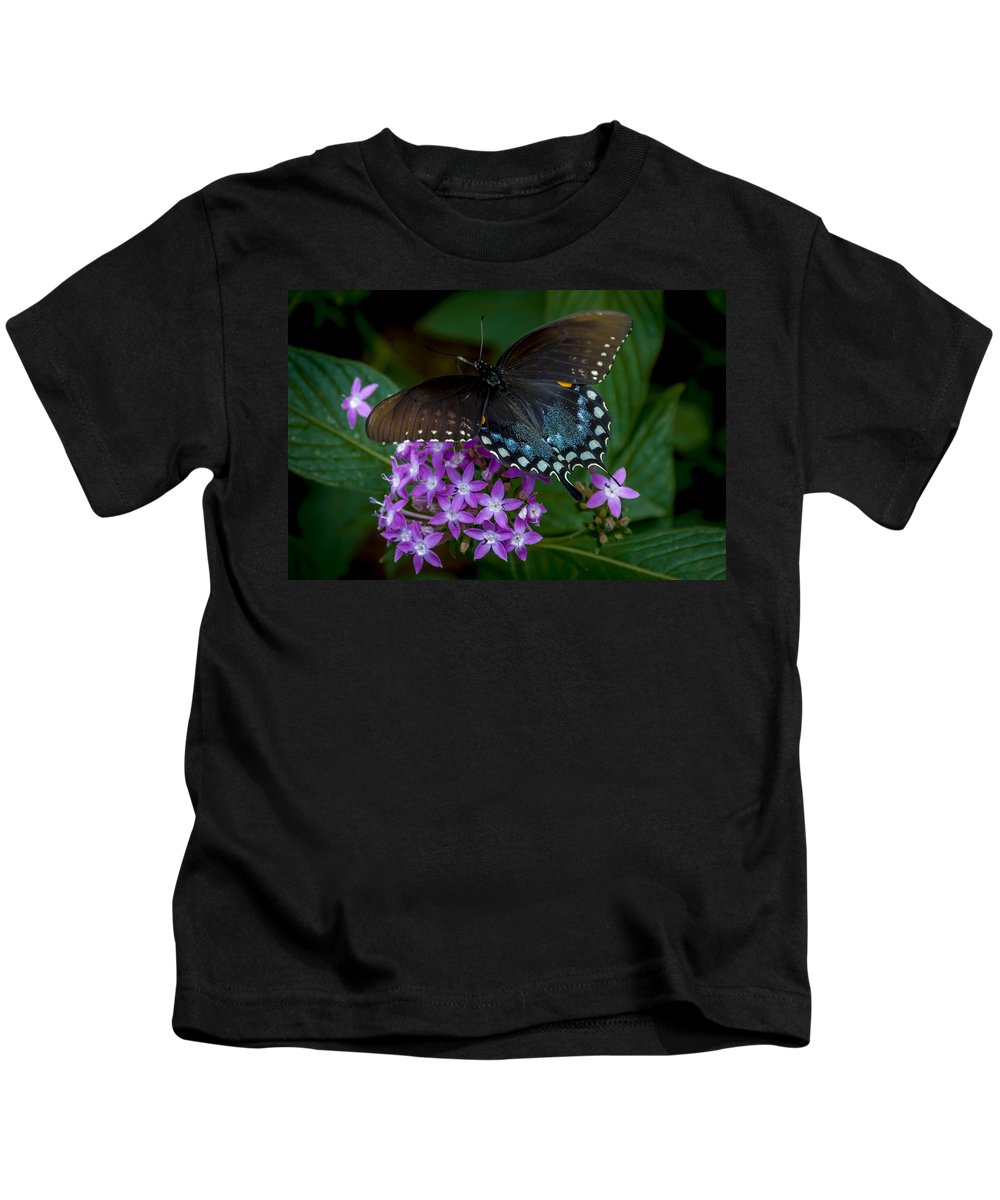 Butterfly Kids T-Shirt featuring the photograph Freckles by Louis Rivera
