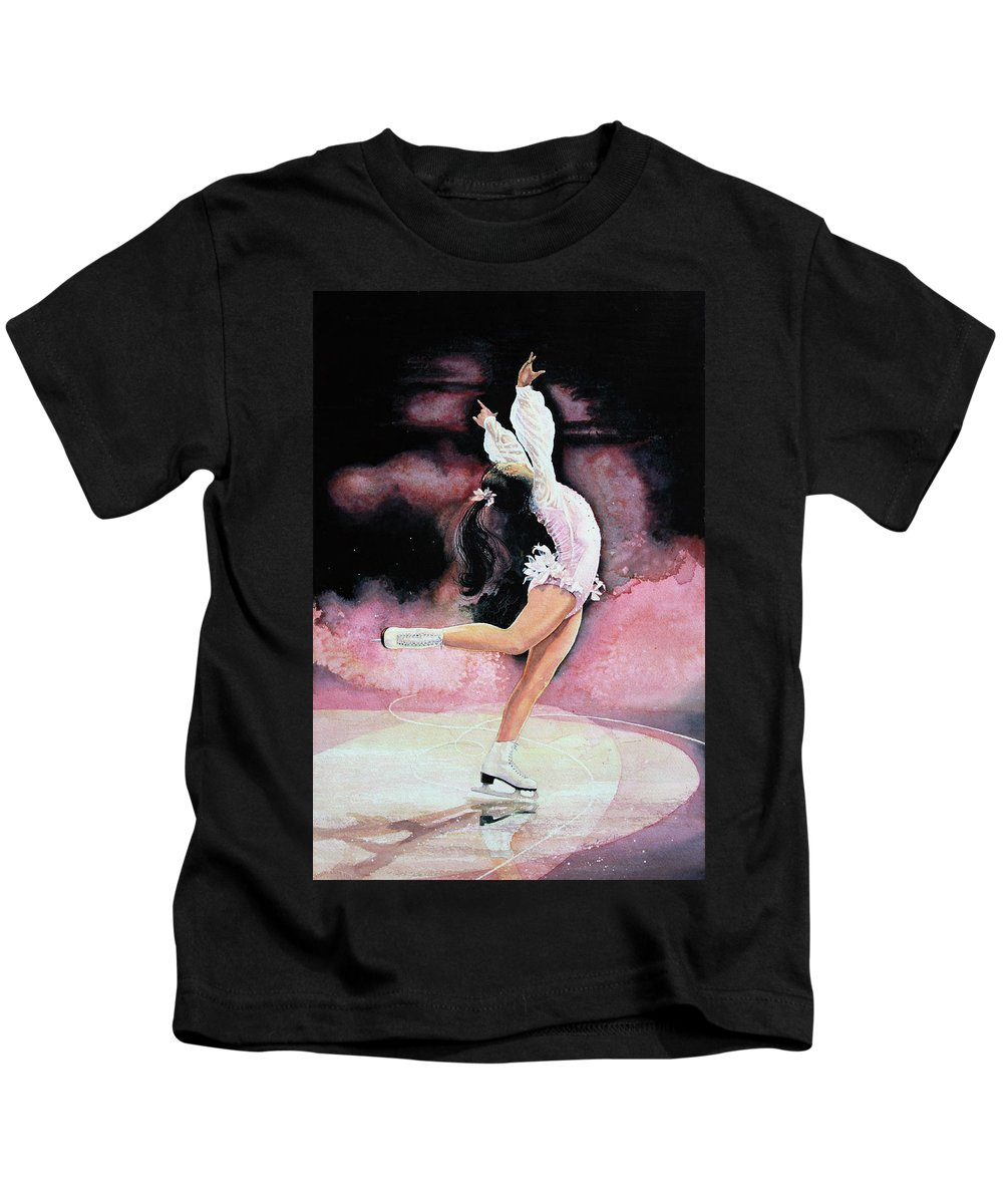 Skating Kids T-Shirt featuring the painting Free Spirit by Hanne Lore Koehler