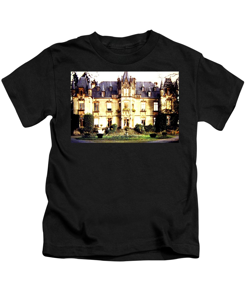 French Chateau 1955 Kids T-Shirt featuring the photograph French Chateau 1955 by Will Borden