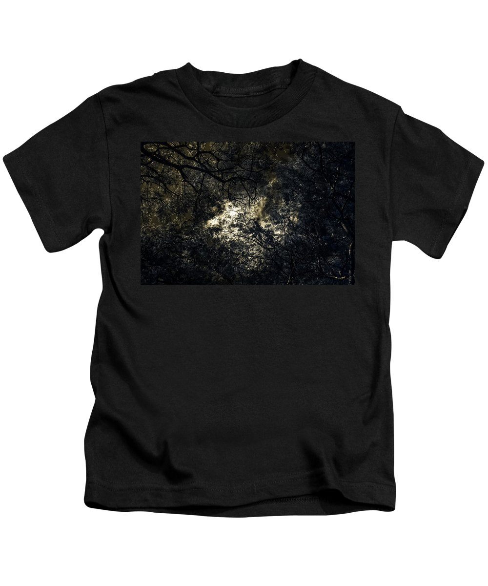 Infrared Kids T-Shirt featuring the photograph Frequencies Of Nature by Mario Morales Rubi