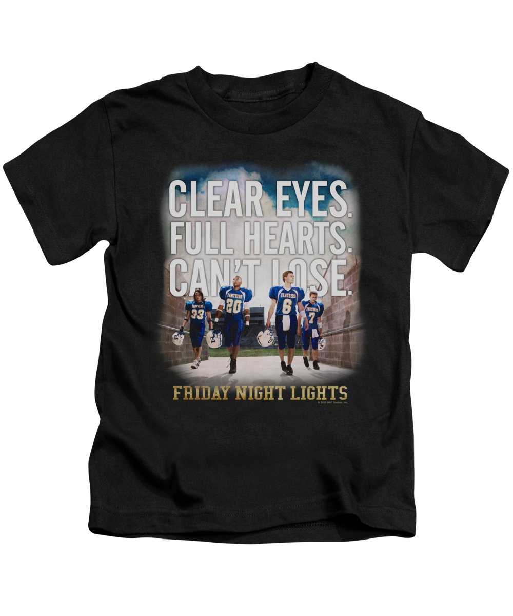 Friday Night Lights Kids T-Shirt featuring the digital art Friday Night Lights - Motivated by Brand A