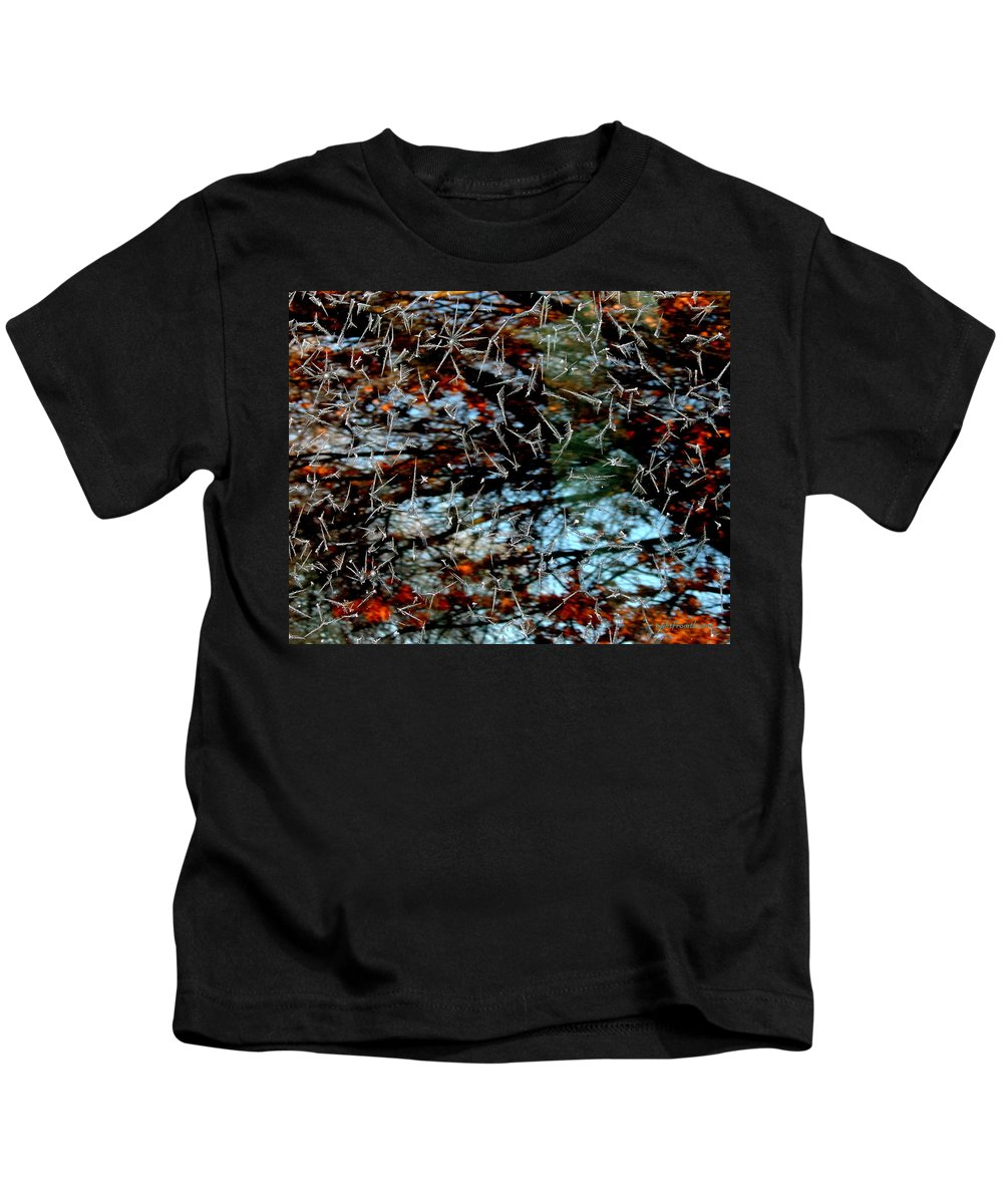 Rightfromtheart Kids T-Shirt featuring the photograph Autumn Frost by Bob and Kathy Frank