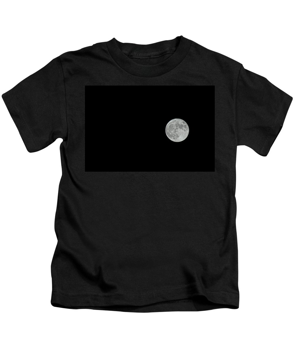 Moon Kids T-Shirt featuring the photograph Full Moon by Donna Blackhall