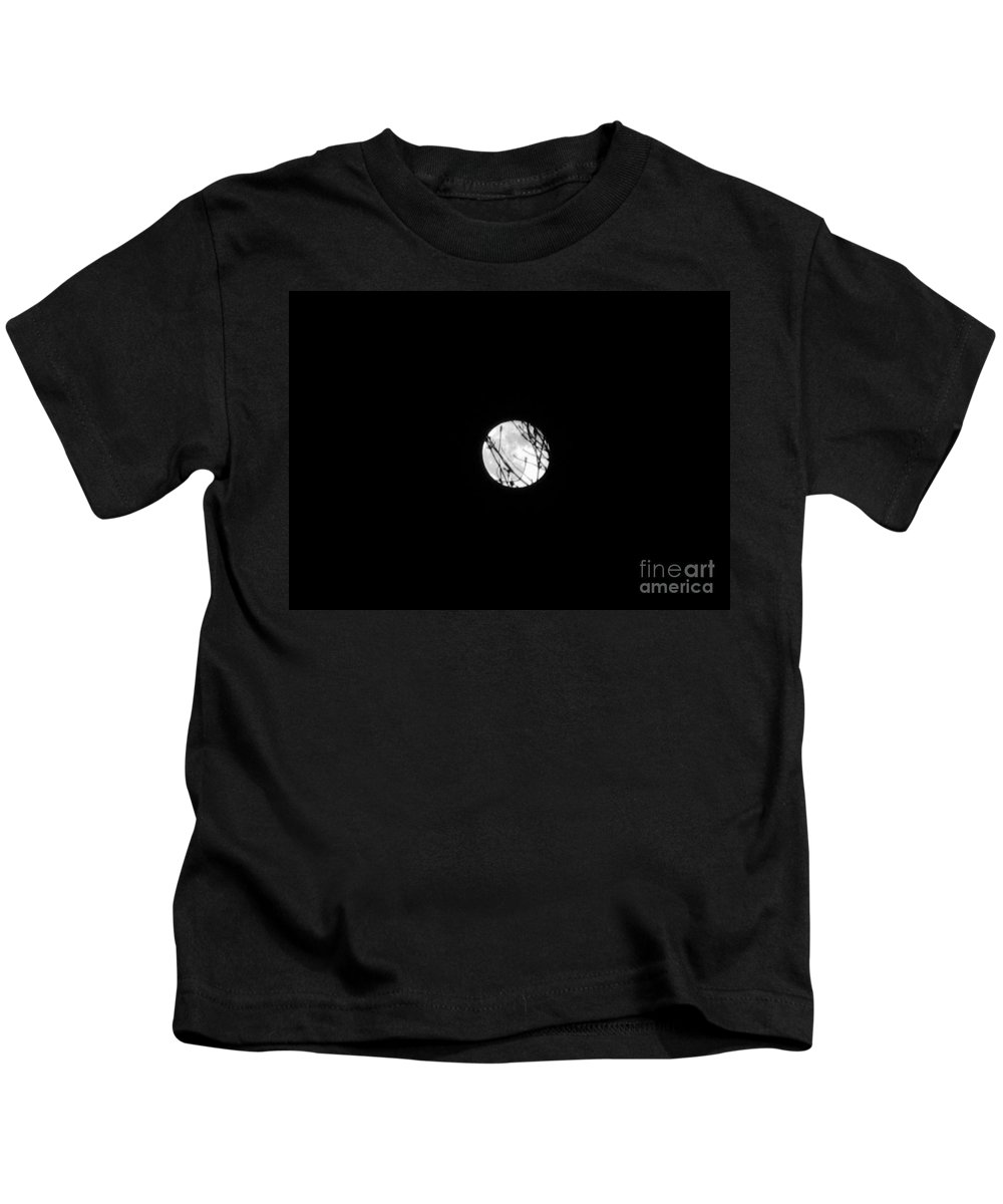 Full Moon Kids T-Shirt featuring the photograph Full Moon by Janell R Colburn