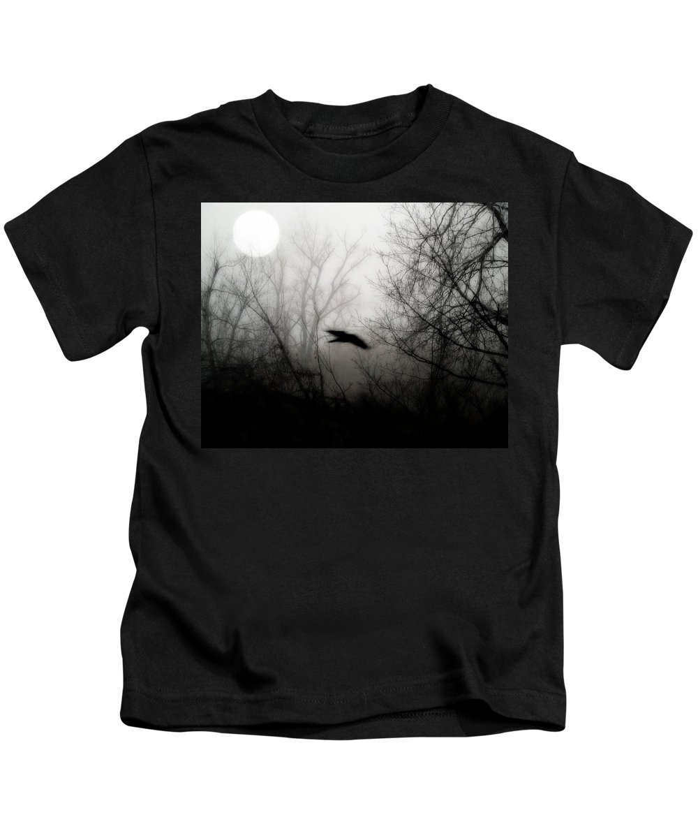 Moon Kids T-Shirt featuring the photograph Full Moon Light by Gothicrow Images