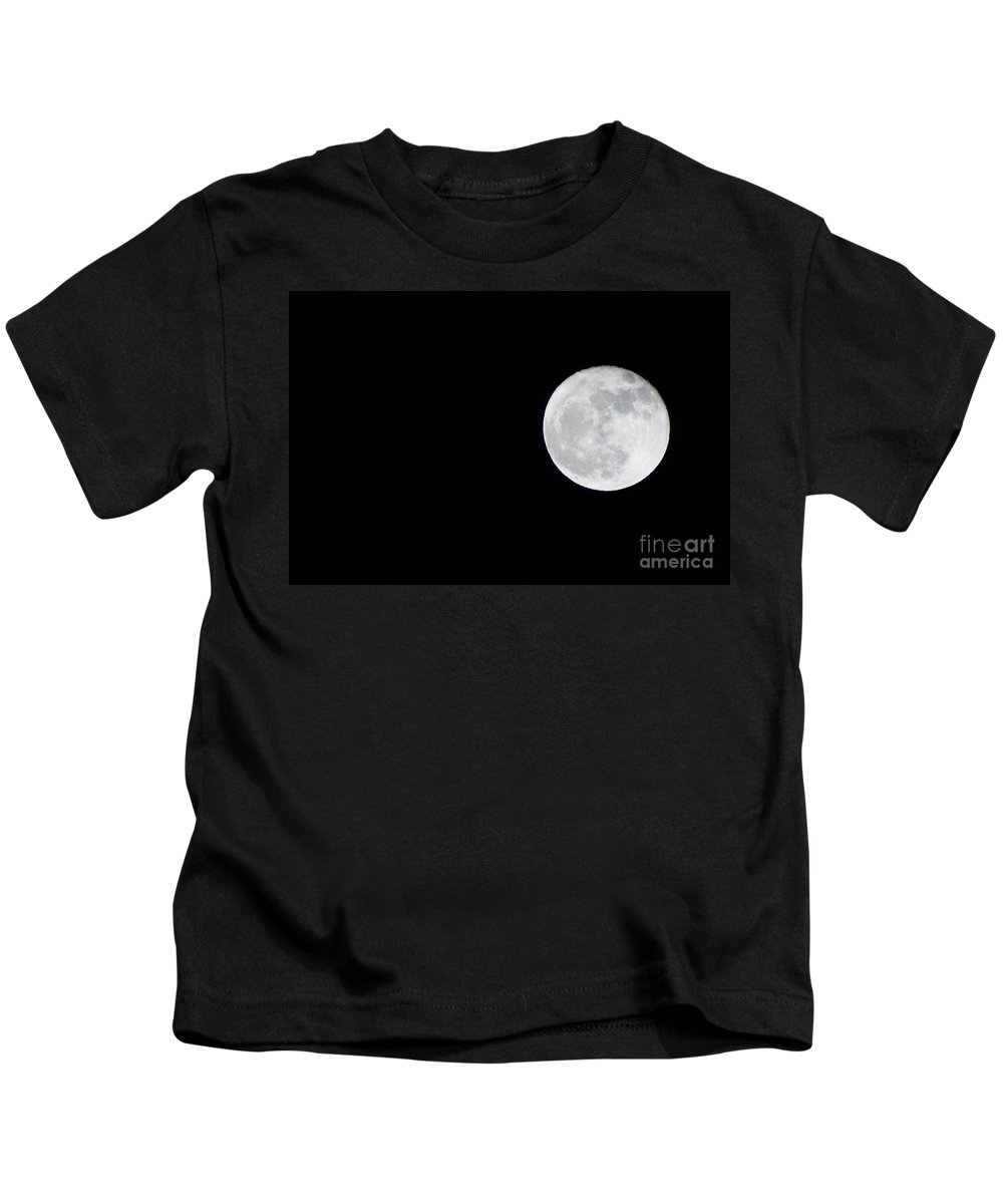 Moons Kids T-Shirt featuring the photograph Full Moon by Randy Harris