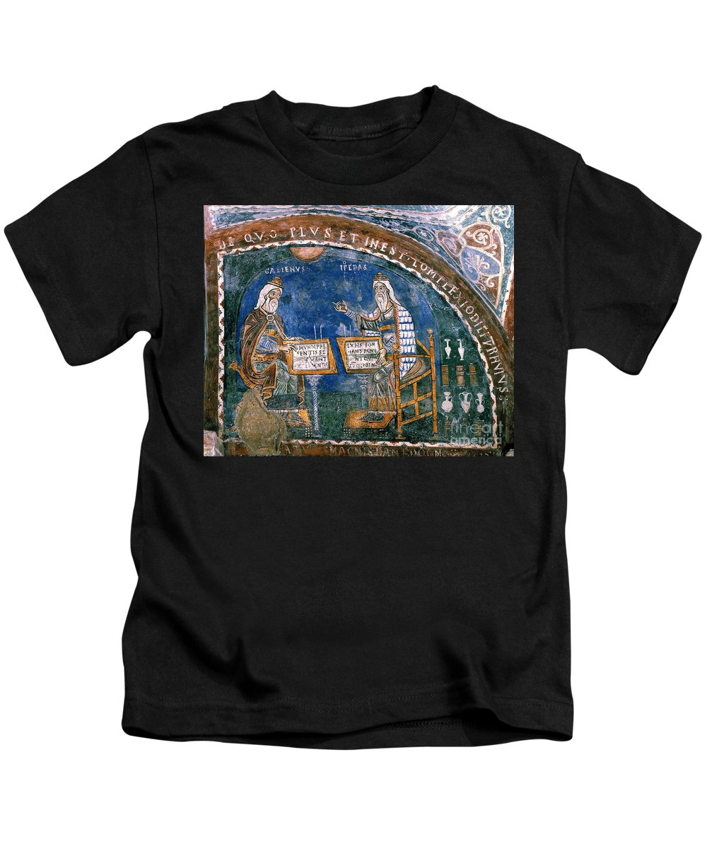 13th Century Kids T-Shirt featuring the photograph Galen And Hippocrates by Granger