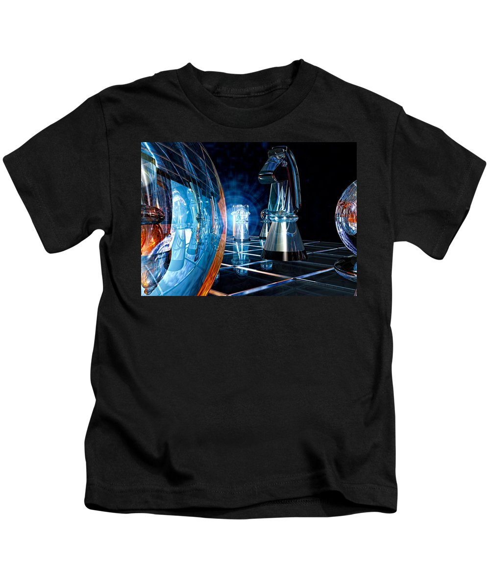 Chess Kids T-Shirt featuring the photograph Game Transparent by Bob Orsillo