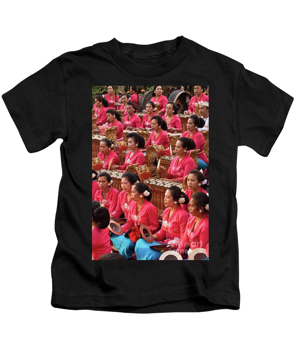 Indonesia Kids T-Shirt featuring the photograph Gamelan 01 by Rick Piper Photography