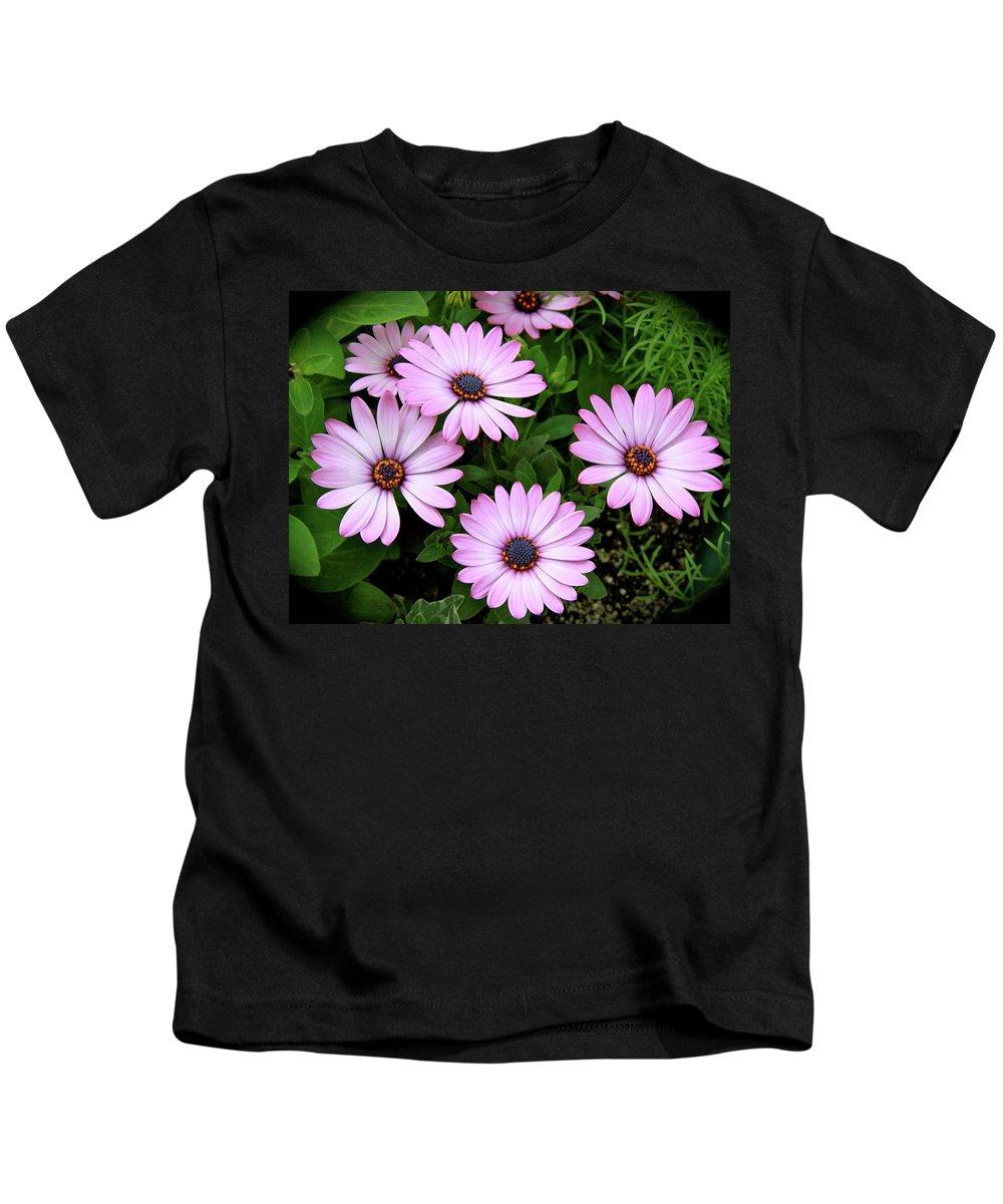 Garden Flowers Kids T-Shirt featuring the photograph Garden Beauty by Ed Riche