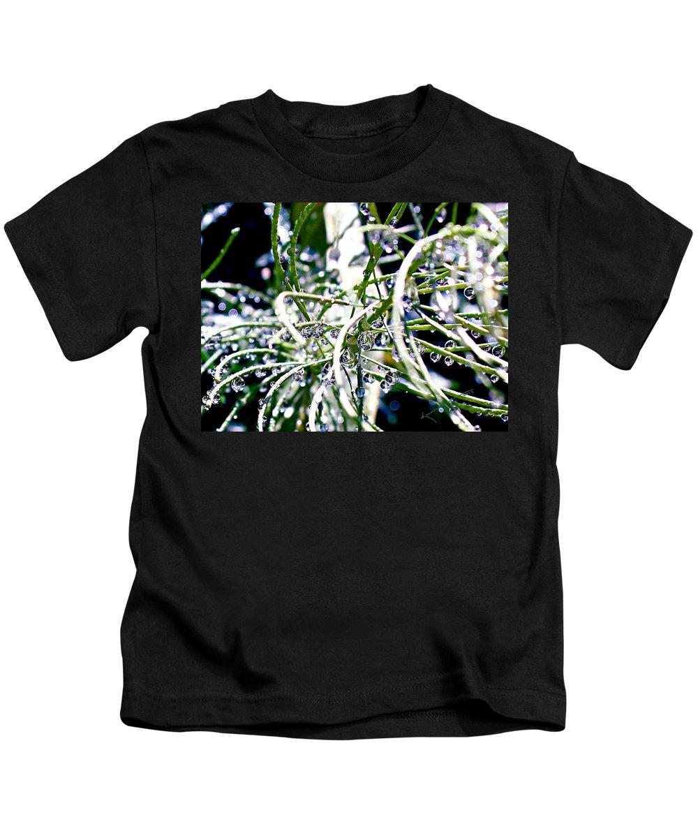 Garden Kids T-Shirt featuring the photograph Garden Orbs by Kume Bryant