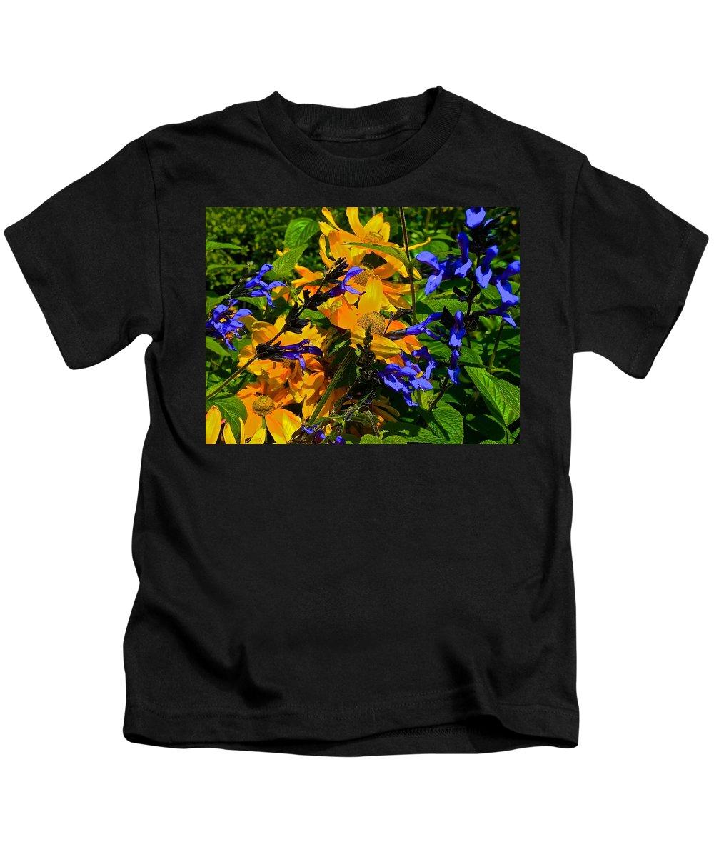 Summer Kids T-Shirt featuring the photograph Garden Splash by Tim G Ross