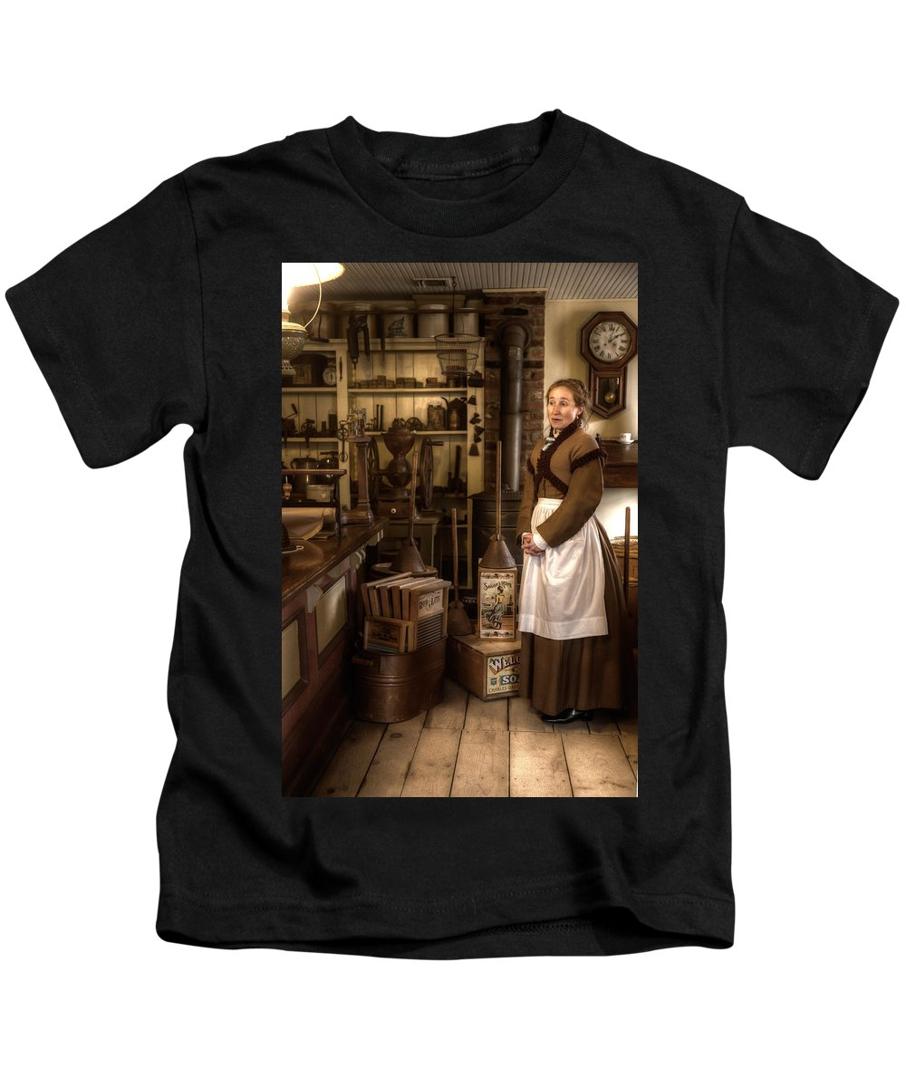 George Kids T-Shirt featuring the photograph General Store by George Argento