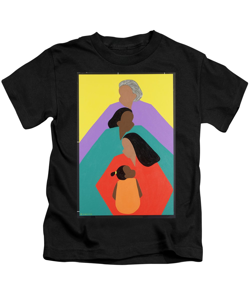 Commissioned Original Oil & Acrylic Kids T-Shirt featuring the painting Generations by Synthia SAINT JAMES