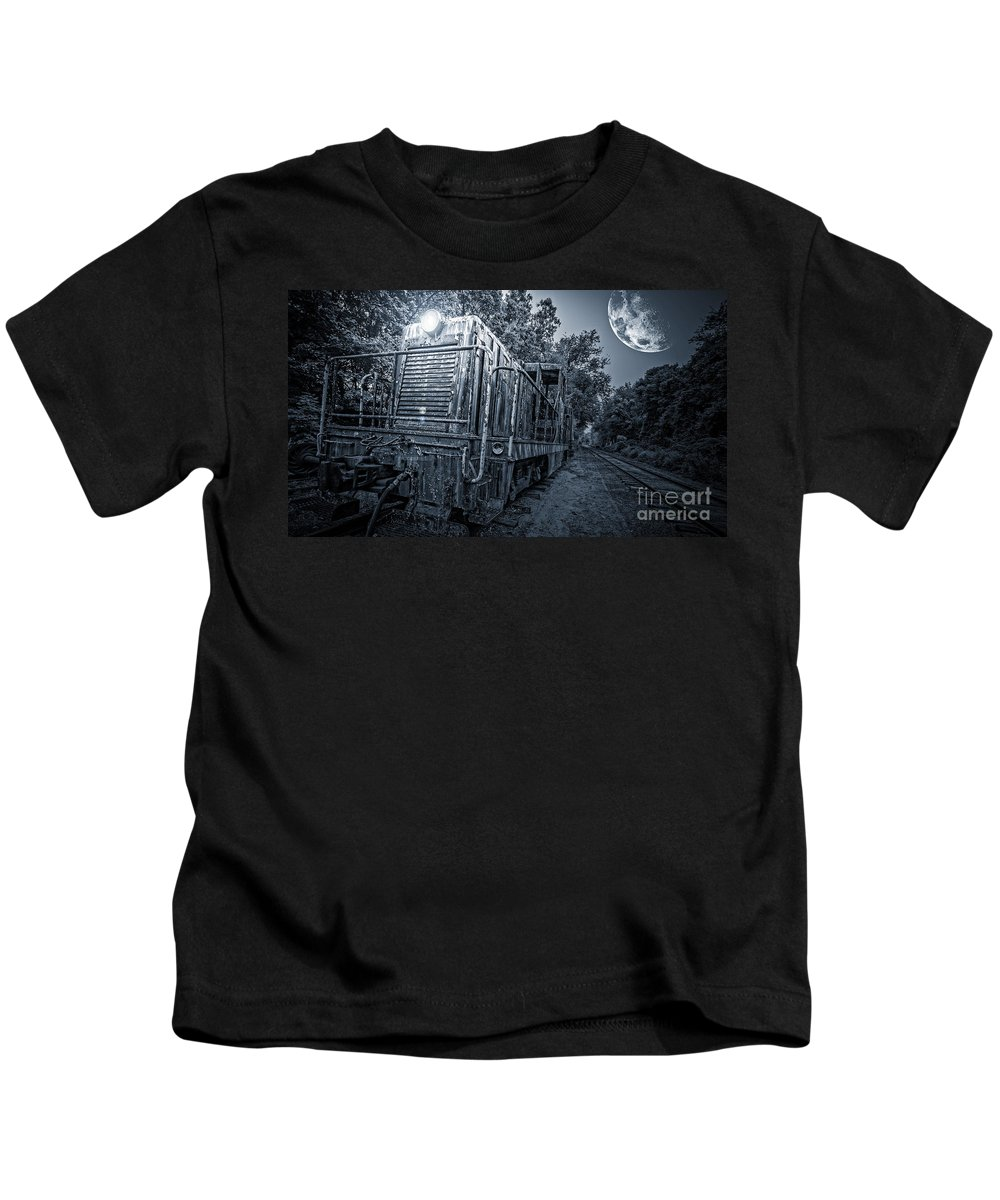 Moon Kids T-Shirt featuring the photograph Ghost Train by Edward Fielding
