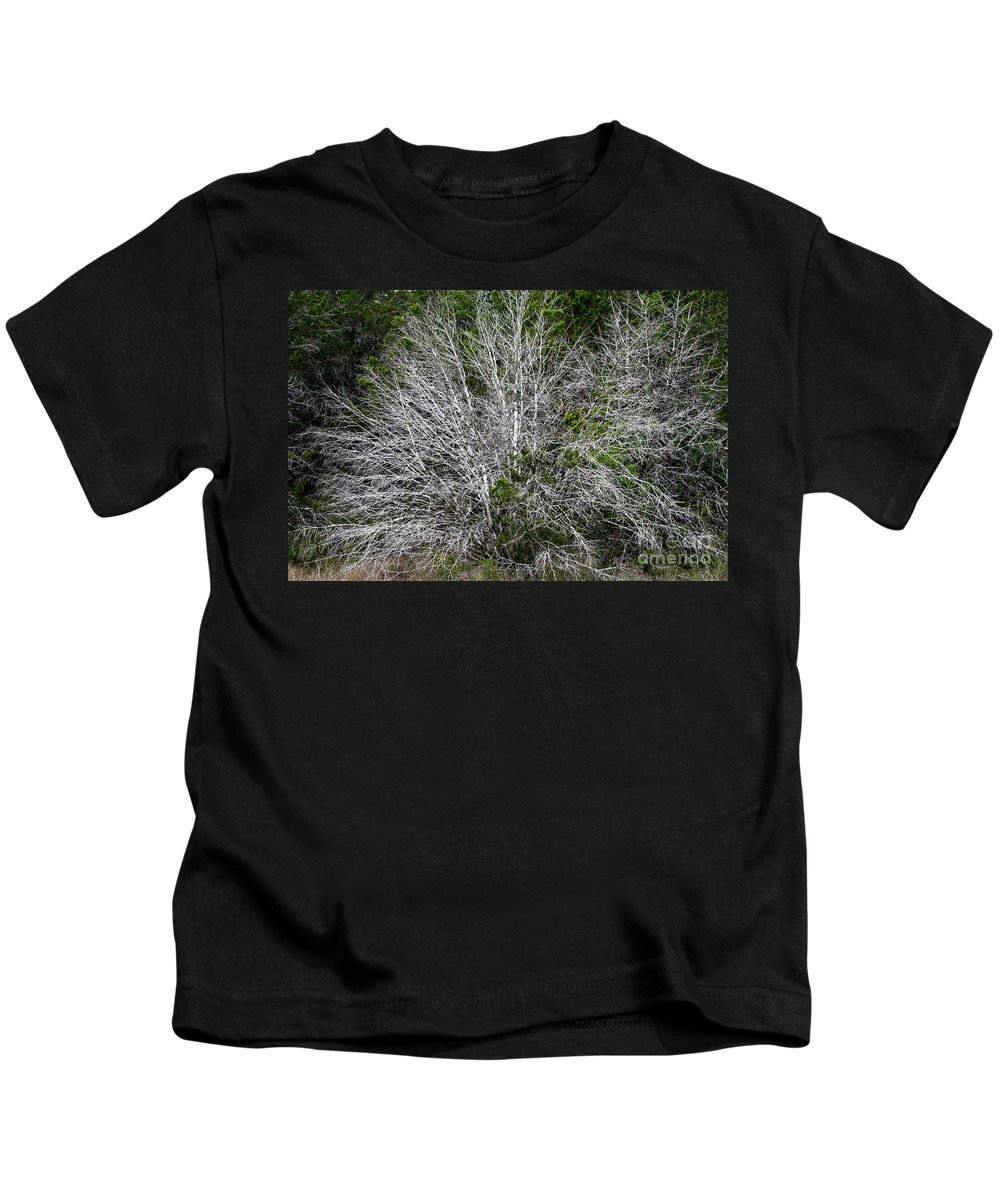 Cedar Kids T-Shirt featuring the photograph Ghost Trees by Gary Richards
