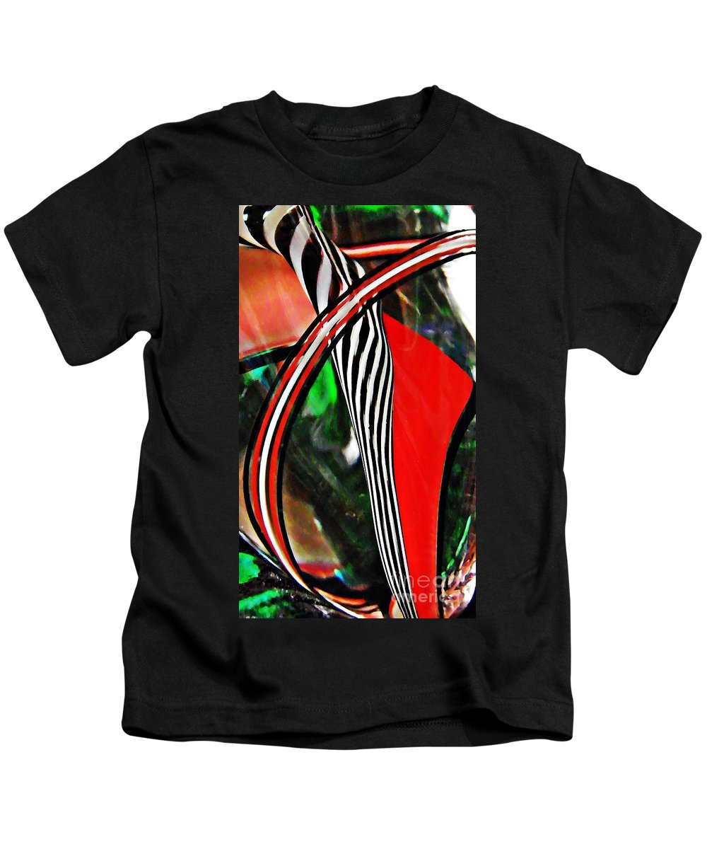 Abstract Kids T-Shirt featuring the photograph Glass Abstract 493 by Sarah Loft