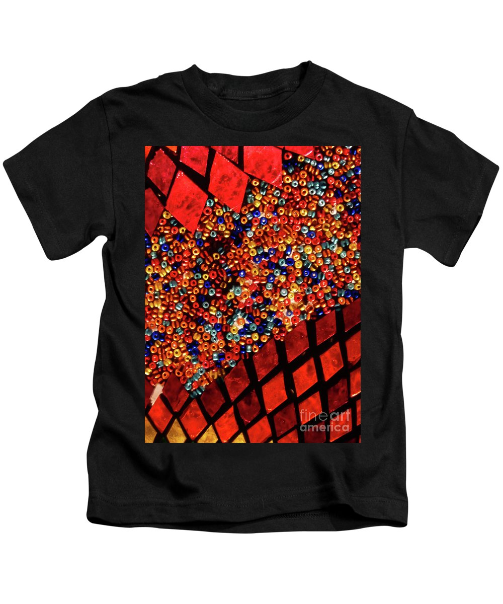 Artistic Kids T-Shirt featuring the photograph Glass And Beads by Angela Wright