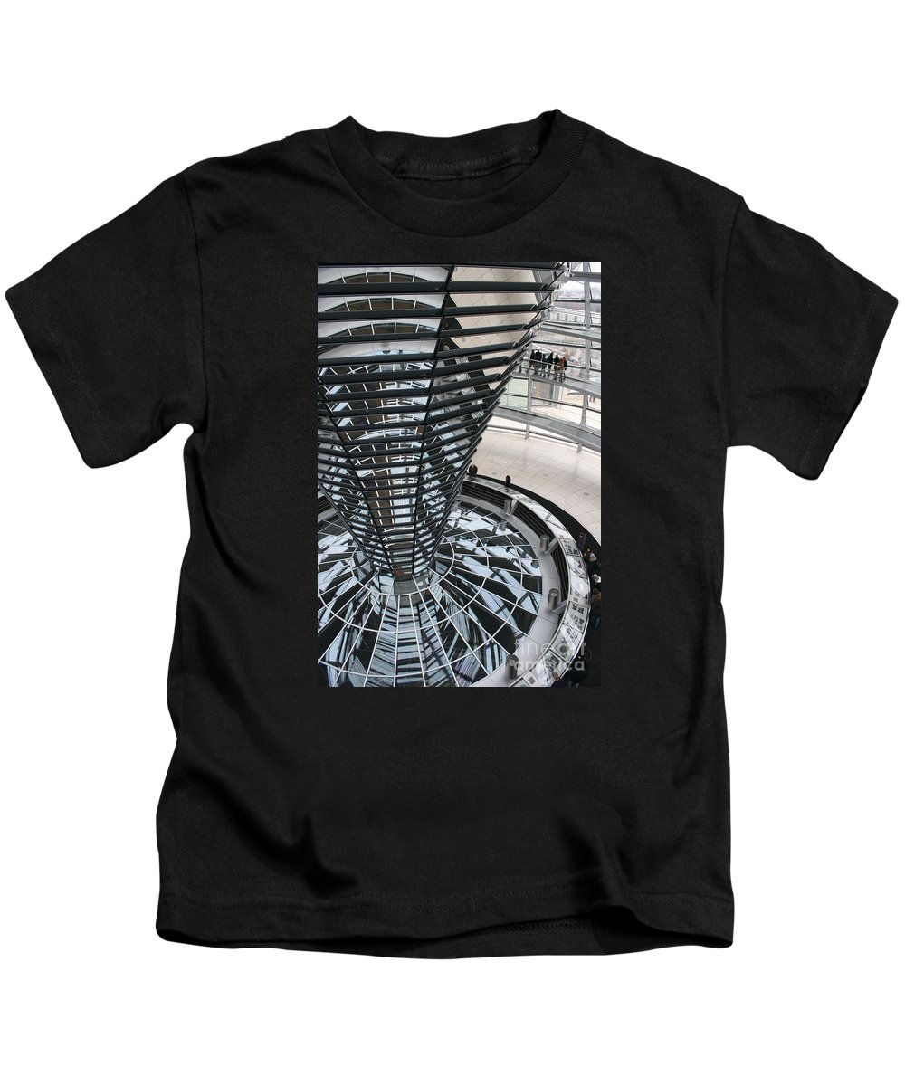 Glass Cupola Kids T-Shirt featuring the photograph Glass Cupola - Berlin by Christiane Schulze Art And Photography