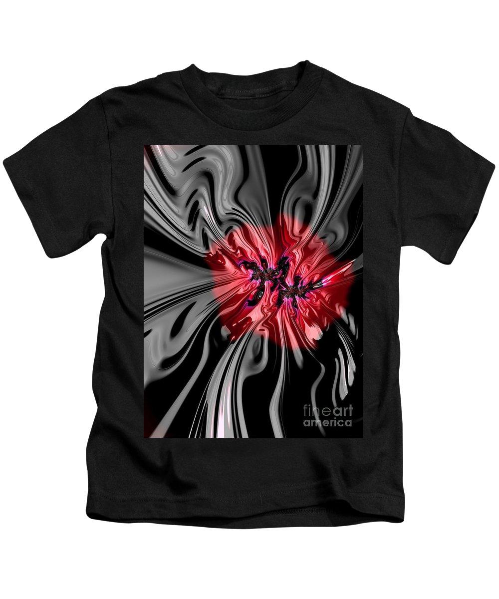Kids T-Shirt featuring the digital art Glass Flower by Barbara Milton