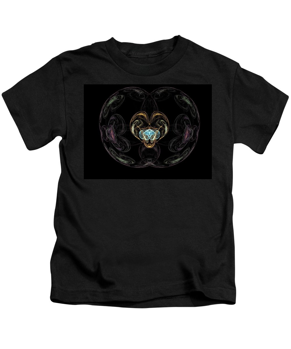 Fractal Kids T-Shirt featuring the painting Glass Globe by Bruce Nutting