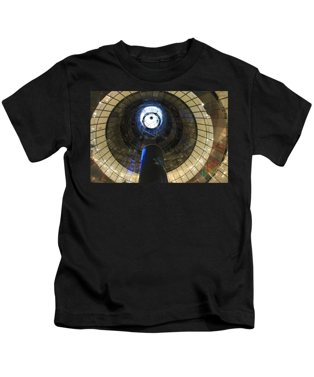Glass Spiral Kids T-Shirt featuring the photograph Glass Spiral by Christiane Schulze Art And Photography