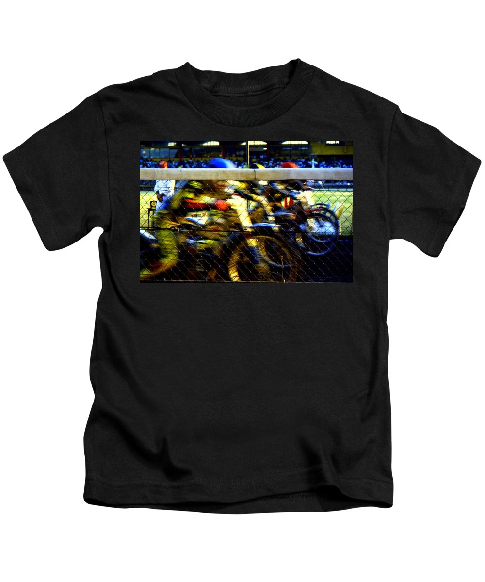 Speedway Kids T-Shirt featuring the photograph Go by Guy Pettingell