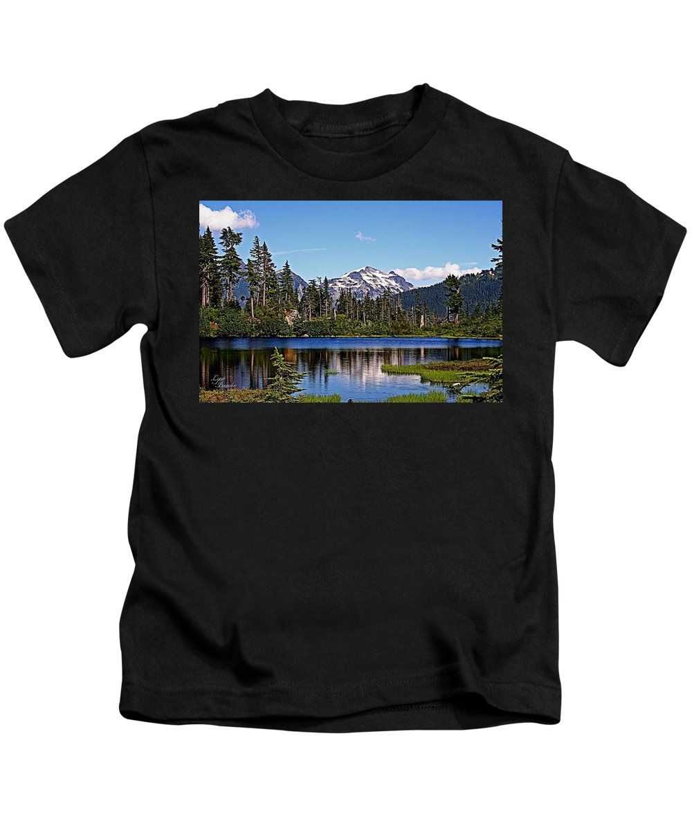 Mountains Kids T-Shirt featuring the photograph Goat Mountain by Lynn Bawden